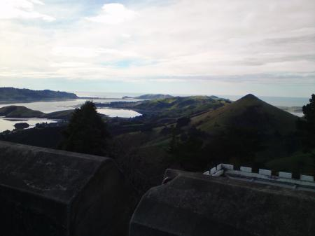 View towards Otago harbour mouth from Larnachs Castle tower