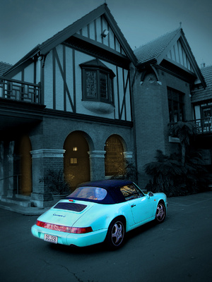 Mona Vale home christchurch with jinx the porsche courtesy of Harry Ruffell