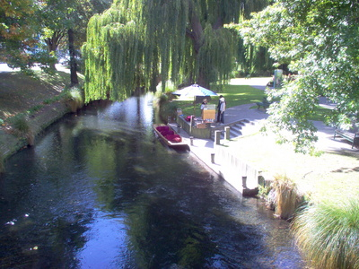 Worcester Street Avon River Christchurch Punting Jetty