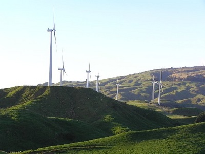 Windfarm Near Wellington by Tony Sutherland
